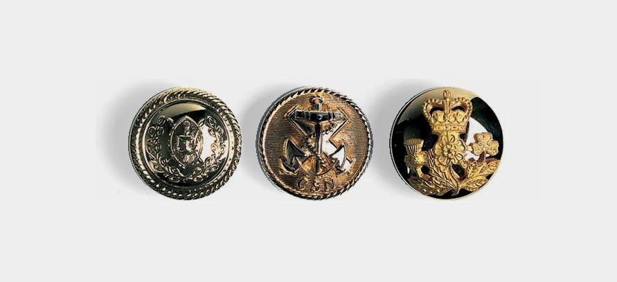 Uniform Buttons - Parade/Ceremonial Use: Designer